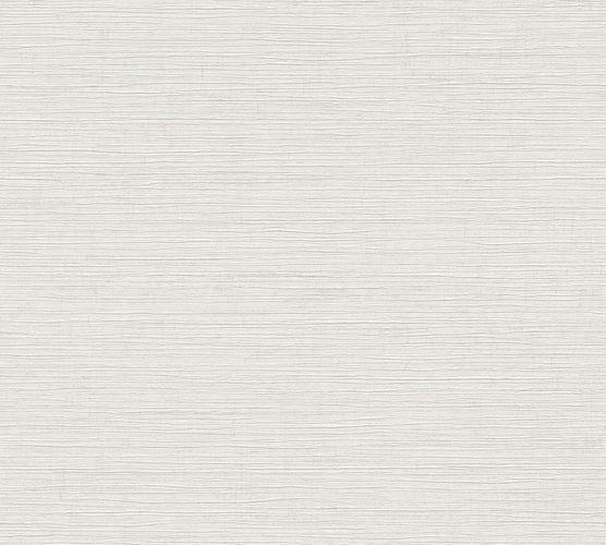 Tapete Vlies Einfarbig Meliert weiß grau Glanz 37857-1