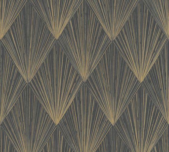 Tapete Vlies Geometrisch gold schwarz Metallic 37864-4