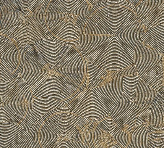 Tapete Vlies Grafisch Kreise gold Metallic 37900-3