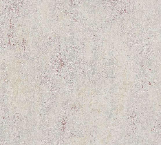 Tapete Vlies Putz Struktur grau beige rot 37903-5