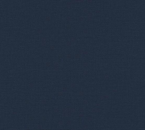 Tapete Vlies Textil Uni dunkelblau Livingwalls 37953-4