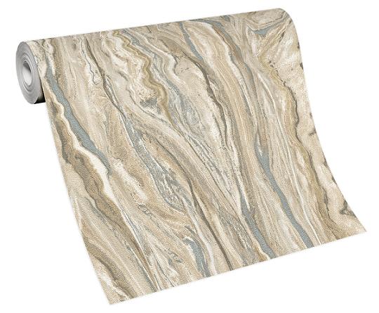 Tapete Vlies Elle Marmor-Design braun silber 10149-02