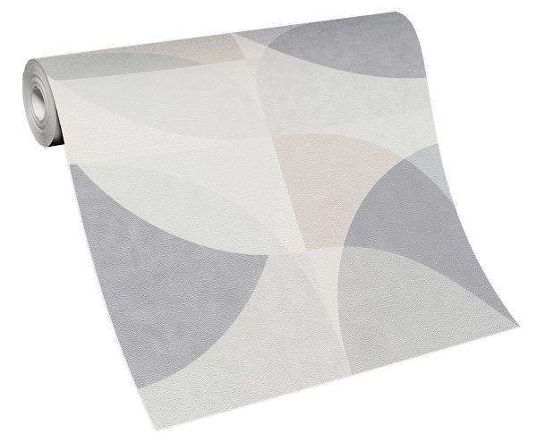 Tapete Vlies Elle Grafik Kreise hellgrau beige 10150-31