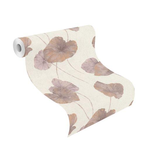 Tapete Vlies Rasch Seerose Floral alt-rosa weiß 458237