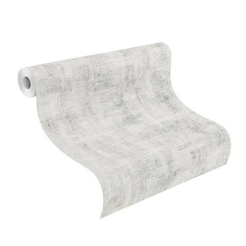Wallpaper Rasch Plain Vintage grey white 650426