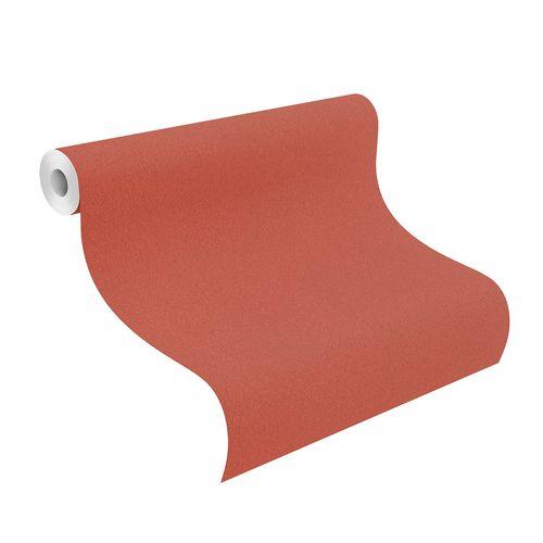 Tapete Vlies Rasch Fell-Optik Struktur orange-rot 418682