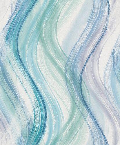 Tapete Vlies Wellen-Design blau grün weiß Shades 32444