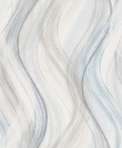 Tapete Vlies Wellen-Design greige blau Shades 32445