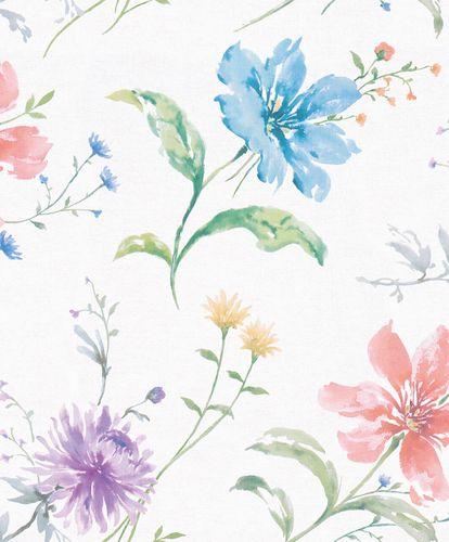 Tapete Vlies Floral Blumen bunt grau-weiß Shades 32454