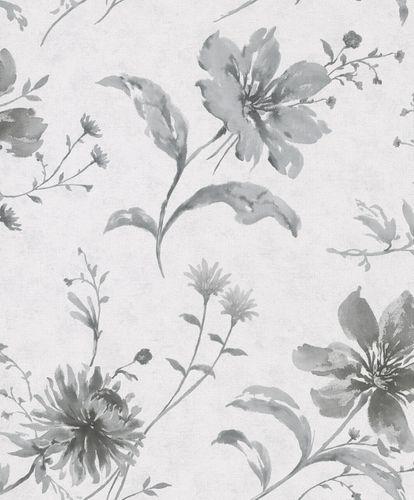 Tapete Vlies Floral Blumen grau weiß Shades 32456