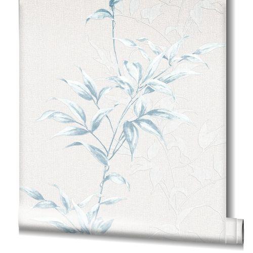 Tapete Vlies Floral Sträucher greige blau Novamur 82220