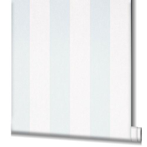 Non-Woven Wallpaper Stripes blue white 82261