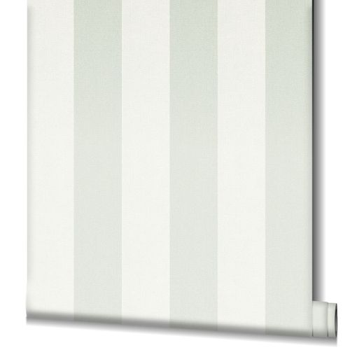 Non-Woven Wallpaper Stripes white green 82262