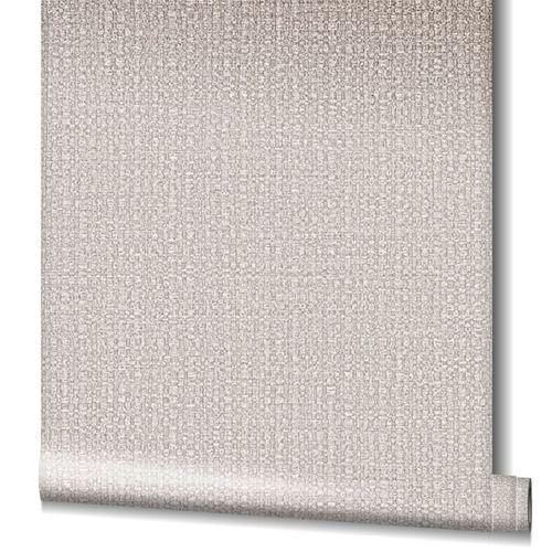 Tapete Vlies Bast-Struktur Metallic greige kupfer 32807