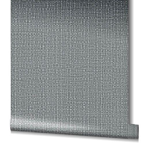 Tapete Vlies Bast-Struktur Metallic grau silber 32808