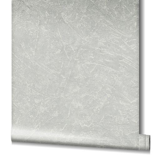 Non-Woven Wallpaper Concrete Look Metallic grey 32815