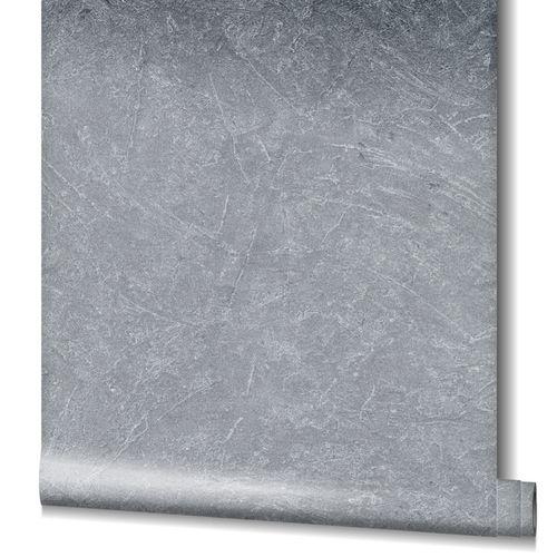 Tapete Vlies Beton-Optik Struktur Metallic silber 32816