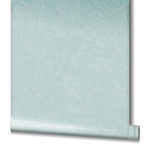 Tapete Vlies Beton-Optik Struktur Metallic mint 32817