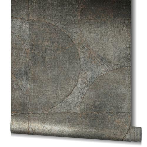 Non-Woven Wallpaper Graphic Metallic brown gold 32821