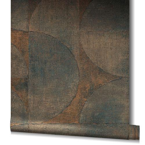 Non-Woven Wallpaper Graphic Metallic brown copper 32822