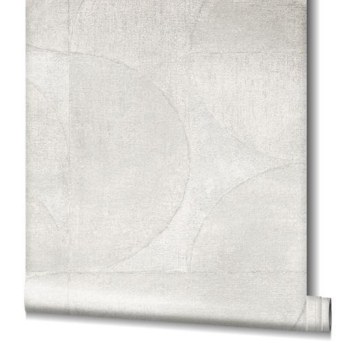 Tapete Vlies Grafisch Metallic weiß-grau 32824