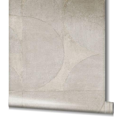 Non-Woven Wallpaper Graphic Metallic grey-beige 32825