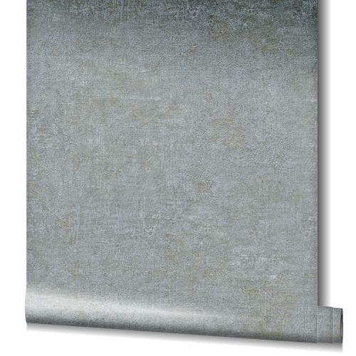 Tapete Vlies Uni Struktur Metallic grau gold 32832