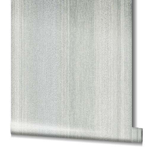 Tapete Vlies Gestreift Struktur Glanz weiß-grau 32835