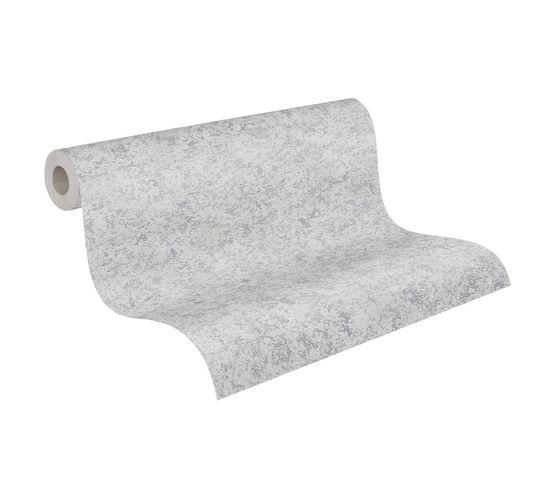 Tapete Vlies Metallic Meliert grau Metallic 3777-22