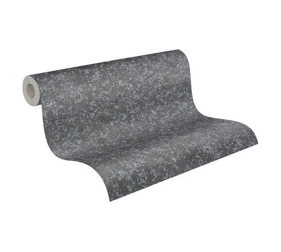 Tapete Vlies Metallic Meliert schwarz Metallic 3777-46