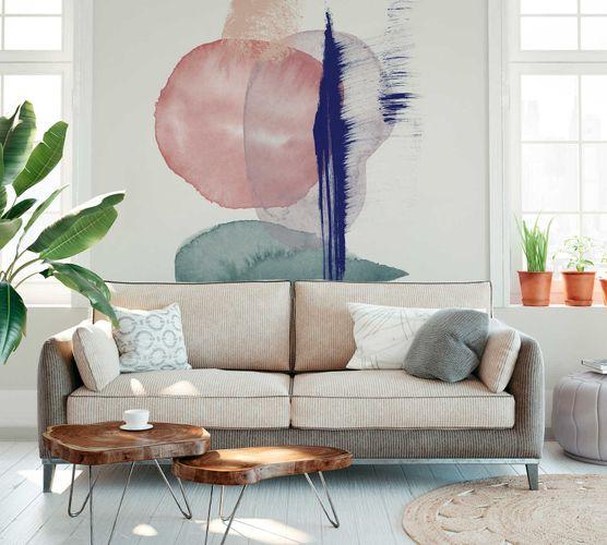 Photo Wallpaper Non-Woven Abstract Watercolour pink