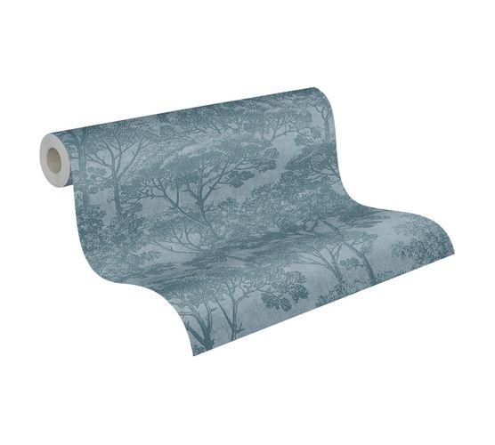Tapete Vlies Natur Bäume blau 38023-2