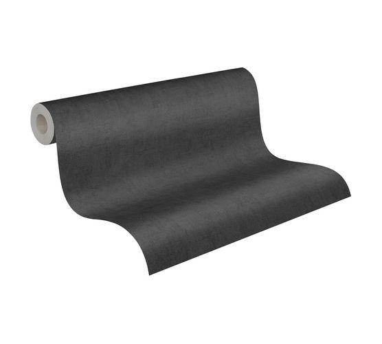 Wallpaper Non-Woven Plain Mottled black 38025-1