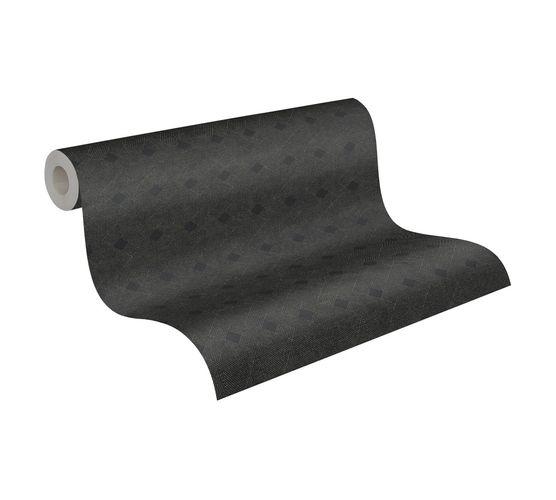 Tapete Vlies Striche Grafik schwarz Metallic 38029-1