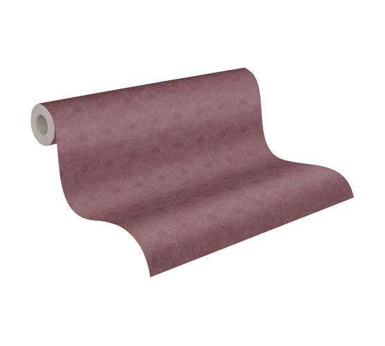 Tapete Vlies Striche Grafik rot silber Metallic 38029-3
