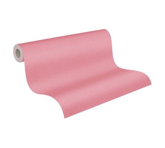Tapete Vlies Einfarbig Struktur pink 37702-5