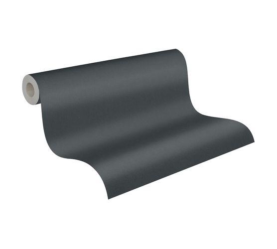 Non-Woven Wallpaper Plain Structure black 37748-3