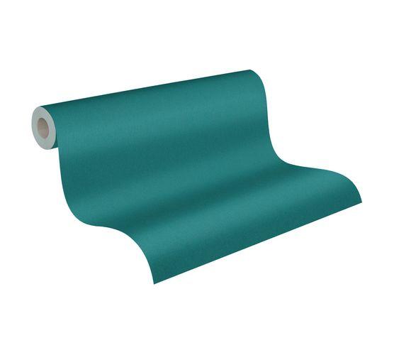 Tapete Vlies Einfarbig Struktur blau-grün 37749-2