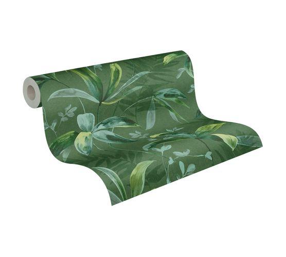 Tapete Vlies Blätter Dschungel dunkelgrün 37704-2