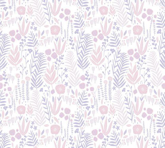 Vliestapete Kinder Floral Blumen lila rosa weiß 38118-1