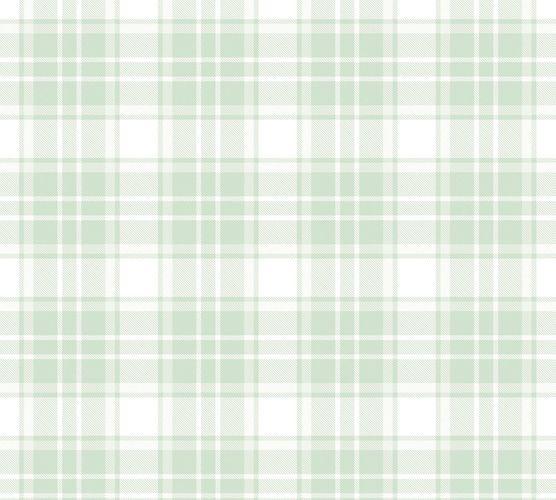 Vliestapete Kinder Kariert grün weiß 38122-2