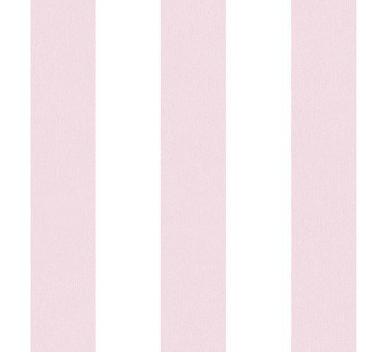 Vliestapete Kinder Blockstreifen rosé weiß 38148-2