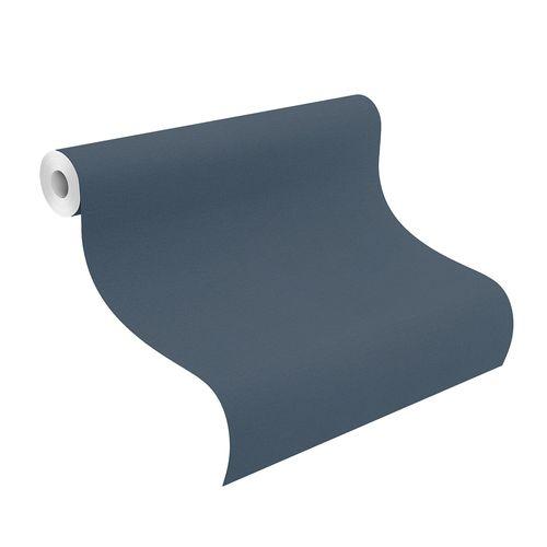 Non-Woven Wallpaper Plain Textile dark-blue 452082