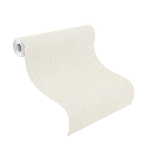 Non-Woven Wallpaper Plain Textile white 700435