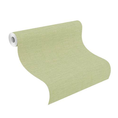 Non-Woven Wallpaper Plain Textile green 700466