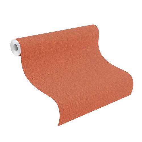 Non-Woven Wallpaper Plain Textile orange-red 700497