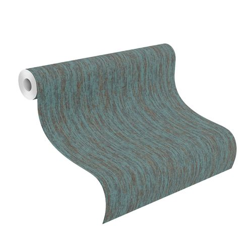 Non-Woven Wallpaper Nature Structure turquoise 704235