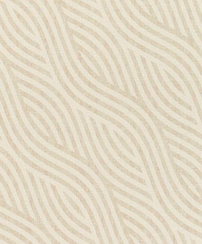 Non-Woven Wallpaper Waves-Design cream beige 704532