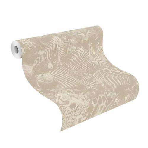 Non-Woven Wallpaper Jungle Leaves beige cream 704716