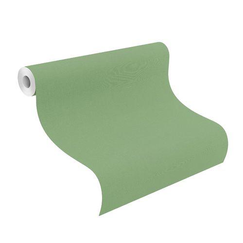 Non-Woven Wallpaper Rasch Plain Linen green 537918